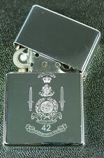 42 Commando Royal Marines Corps style classic flip top Engraved Lighter