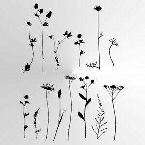 WILD FLOWERS FIELD SET Reusable Stencil A3 A4 A5 Art Romantic Shabby Chic WILD5