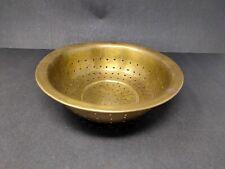 Vintage Handcrafted Brass Grain Filter Old Washing Bowl Unique Shape Kitchenware