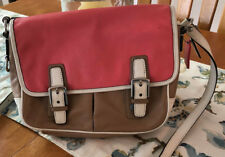 COACH Park Leather Colorblock Crossbody Flap Handbag F23383 and wallet