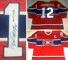 YVAN COURNOYER AUTOGRAPHED MONTREAL CANADIENS JERSEY W/HOF1982