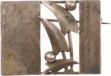 alte Brosche Schmuck - Jugendstil - Silber