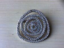 Silver Tone Brooch Beautiful Swarovski Crystal