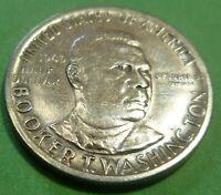 1946 Booker T Washington  US COMMEMORATIVE HALF DOLLAR SILVER COIN BTW46