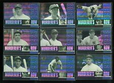 2000 Upper Deck Yankees Legends Muderer's Row Insert Baseball Card Near Set 1-10