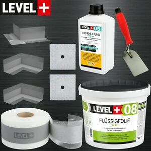 DichtSet 5m² für Dusche Tiefengrund Flüssigfolie + Spachtelkelle 60mm TOP SET102