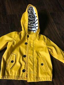 Baby Gap Raincoat 18-24 Months Yellow Toddler Slicker