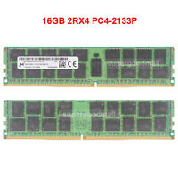For Micron 16GB 2Rx4 PC4-2133P 17000 DDR4-2133Mhz 1.2V ECC REG Server Memory RAM