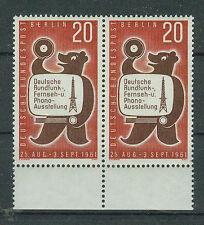 Briefmarken Berlin 1961 Funkausstellung Paar Mi.Nr.217 postfrisch mit Rand