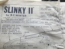 Large Model Plane Drawing SLINKY II by BE Winter from Radio Modeller Magazine