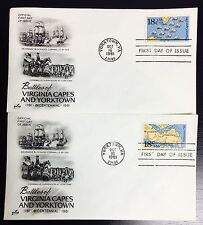 "USA Stamp Set of 2 FDC""YorkTown-VA Battle""18 Cents 10/16/1981 SC# 1937-38 (#S58)"