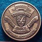 Vtg 80's 90's US Army 1st Battalion 75th Rangers 2/75 Bronze 39mm Challenge Coin