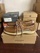 Sperry Mens Billfish Dark Tan Boat Shoe Size 11 M 289