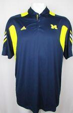 Michigan Wolverines Men's NCAA adidas Climalite Blue 3 Button Polo