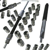 17pc Diesel Injector Seat Cutter Reamer Set Universal Reface Tool Kit