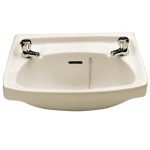 Twyford Classic Wall Hung Basin 560mm Wide - 2 Tap Hole Basin Only