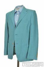 PAUL STUART Teal Blue 100% LINEN Mens Blazer Sport Coat Jacket - 38 R