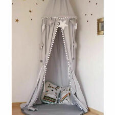 Kids Baby Princess Cot Bed Canopy Bedcover Mosquito Net Bedding Dome Tent Cotton