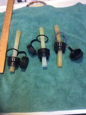 Lot Of 3 Blitz Flex Gas Nozzles And Complete Caps