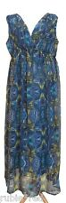 KUSHI Butterfly Print Maxi Dress SIZE 18