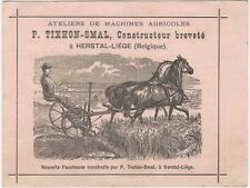 1880s Belgian Small Agricultural Machinery Manufacturer Trade Card