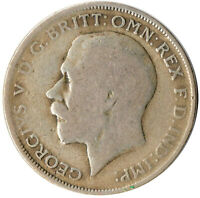 1920 ONE FLORIN/TWO SHILLING - Silver Coin - King George V  #WT3226