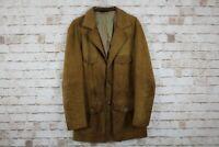 """Glenhusky Brown Leather Jacket Chest size 44"""""""