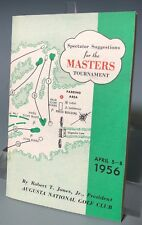 1956 MASTERS SPECTATOR GUIDE AUGUSTA NATIONAL GOLF w/ SUPPLEMENT TEE TIMES