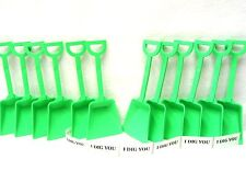 """48 """"I Dig You"""" Stickers and  48 Lime Toy Plastic Sand Shovels Mfg USA Lead Free"""