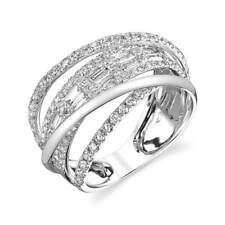 Infinity Women Silver Wedding Ring Set Jewelry White Sapphire Ring Set Size 8