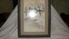 Pen and ink drawing by Anna Sandhu Ray - Signed