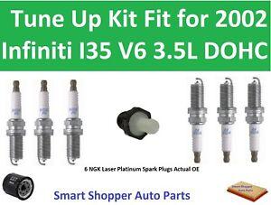 PCV Valve, Spark Plugs, Oil Air Filter Tune Up Fit for 2002 Infiniti I35 V6 DOHC