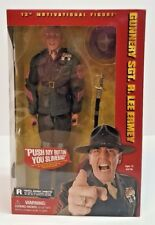 """Gunnery Sgt R Lee Emery Autographed 12"""" Motivational Fig. Full Metal Jacket NEW"""