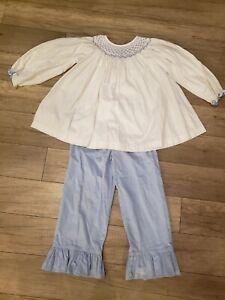 Shrimp And Grits Girls Smocked Outfit 5T