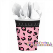 SWEET SAFARI GIRL 9oz PAPER CUPS (18) ~ Baby Shower Party Supplies Beverage Pink
