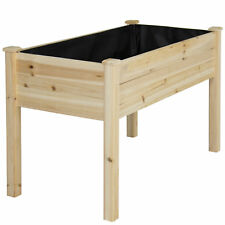 Wooden Garden Raised Bed Elevated Planter Kit Plant Flower Vegetable Seeds Box