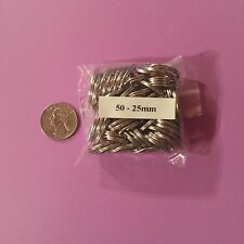 "Stainless Steel Key Rings 1"" (25mm) Split Ring Wholesale lot 50"