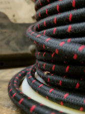 Black/Red Single Stitch Tracer Thread, Cloth Covered 3-Wire Round Fabric Cord