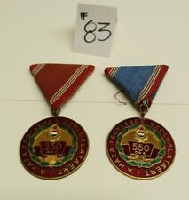 RUSSIA SOVIET HUNGARIAN MEDALS: A HAZA FEGYVERES SZOLGALATAERT 350, 550 ORA -#83