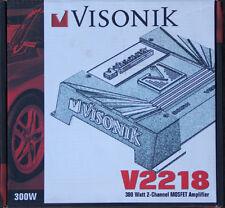 VISONIK V2218 300 WATT 2 CH AMPLIFIER NEW MSRP $165.00