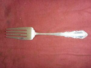 Wallace Shenandoah Sterling Silver 8 inch Medium Solid Cold Meat Serving Fork
