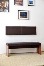S Wand-Kissen Keil-form Keilwandkissen Kunstleder mit Montage-Set 115 x 30 cm
