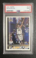 1997-98 Topps #115 Tim Duncan San Antonio Spurs RC Rookie PSA 9 MINT