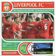 Liverpool 2005-06 TNS Steven Gerrard Hat Trick Football Stamp Victory Card #501
