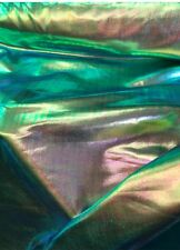 "Green Iridescent Foil Spandex 58"" Fabric Sold By Yard"