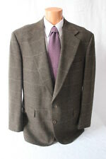 Mens VTG EVAN PICONE Wool Sport Coat Blazer Jacket 44 L Long Herringbone USA