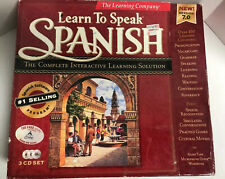 Learn to Speak Spanish 3-Cd Set 150 Page Workbook The Learning Company