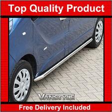 VAUXHALL VIVARO 2014 Sportline Side Bars LWB Polished Stainless Chrome Quality