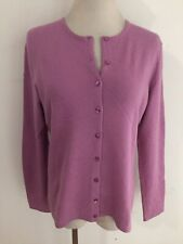 Cashmere Cardigan Sweater Orchid Fits Size M/L (no size tag, see measurements)