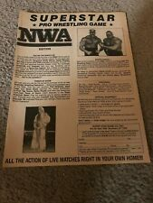 Vintage 1980s Nwa Pro Wrestling Game Print Ad Road Warriors Ric Flair Rare